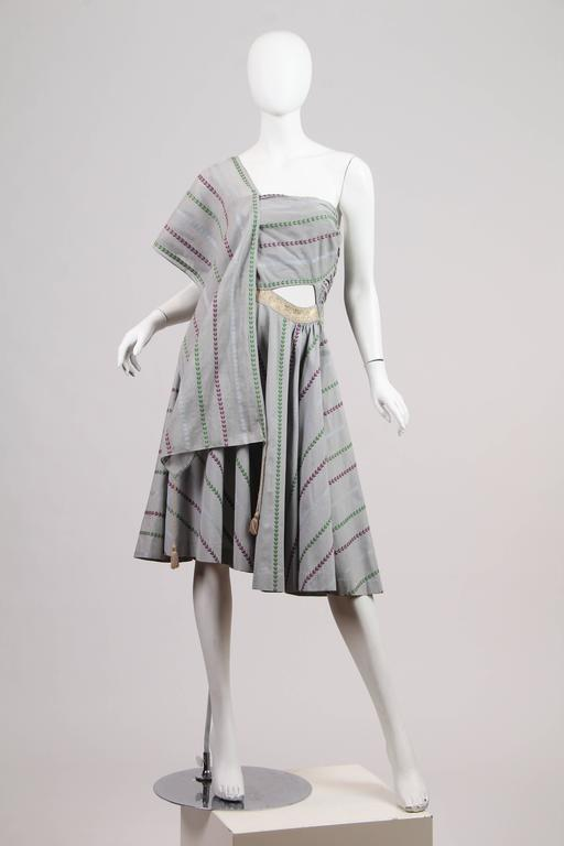 1950s Tina Leser Dress inspired from her trips to India and collection of antique Indian textiles.