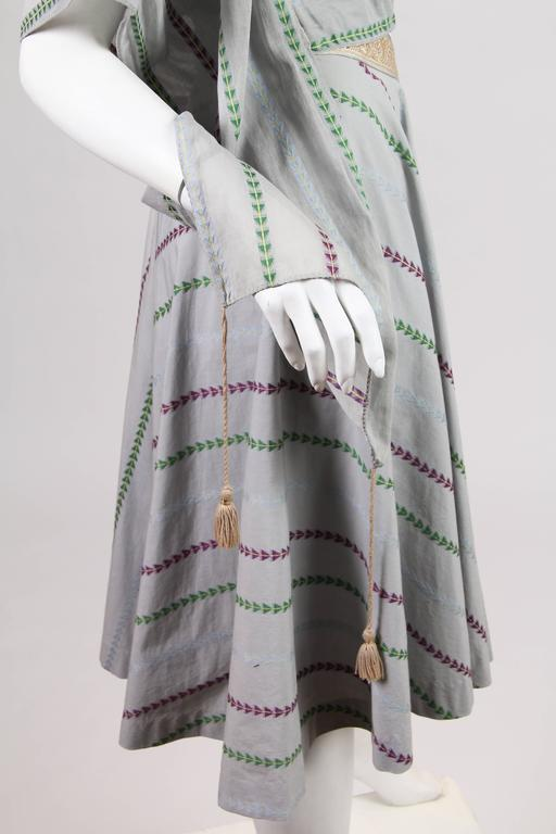 1950s Tina Leser Indian Inspired Dress  For Sale 1