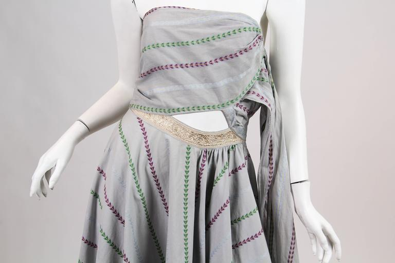 1950s Tina Leser Indian Inspired Dress  For Sale 2