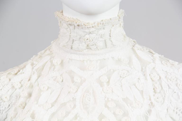 1890s Victorian Handmade Lace Blouse 6