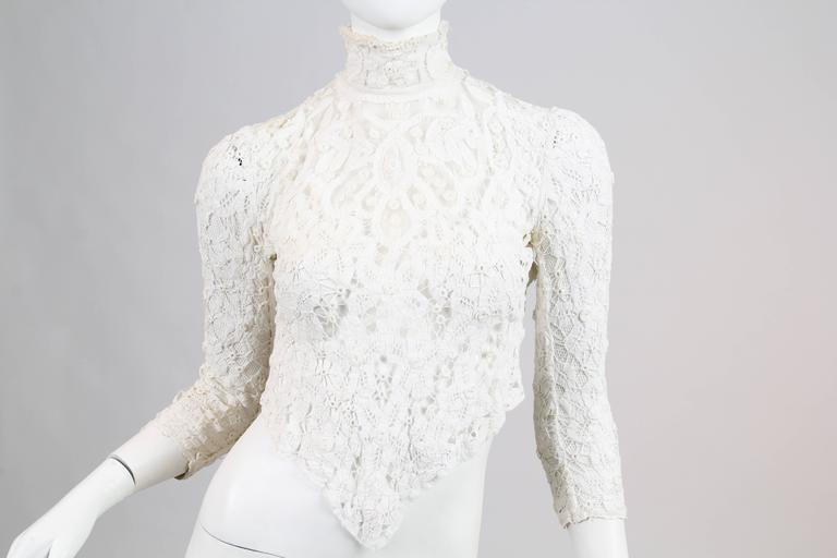 1890s Victorian Handmade Lace Blouse 8