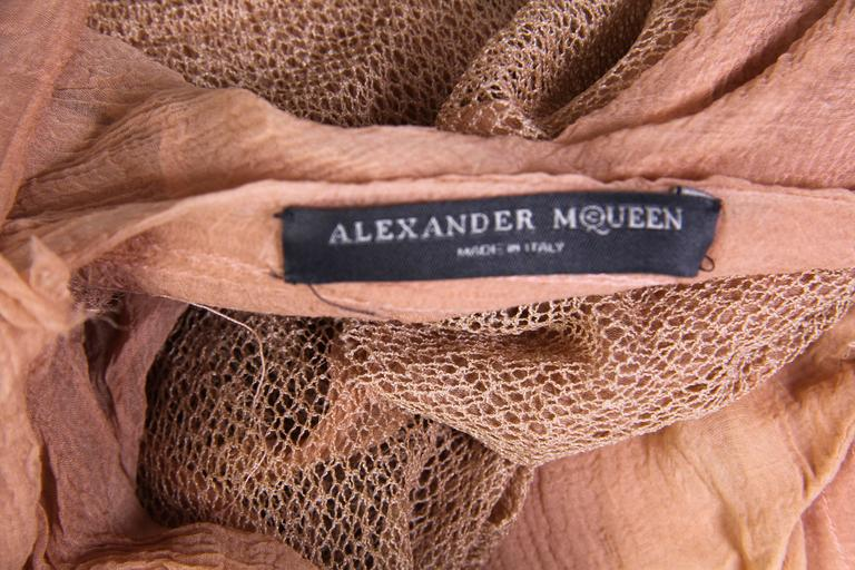 Alexander McQueen S/S 2003 Oyster Dress Blouse For Sale 4