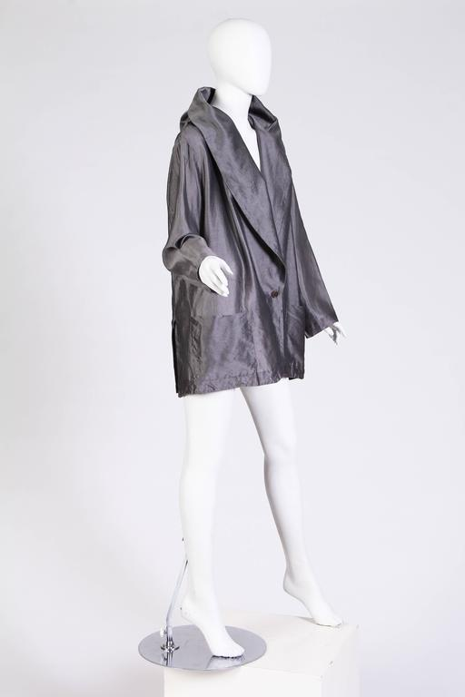 1990s Romeo Gigli Jacket with Hood-Collar In Excellent Condition For Sale In New York, NY