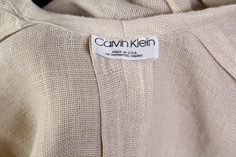 Minimal Calvin Klein Jacket from the 1980s For Sale 5
