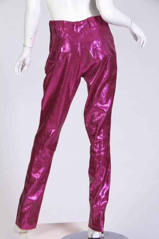 Rare 1960s Lurex Stretch Stagewear Western Trousers 3