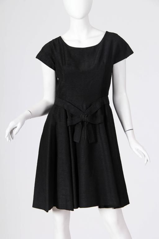 Christian Dior Black Silk Dress For Sale 1