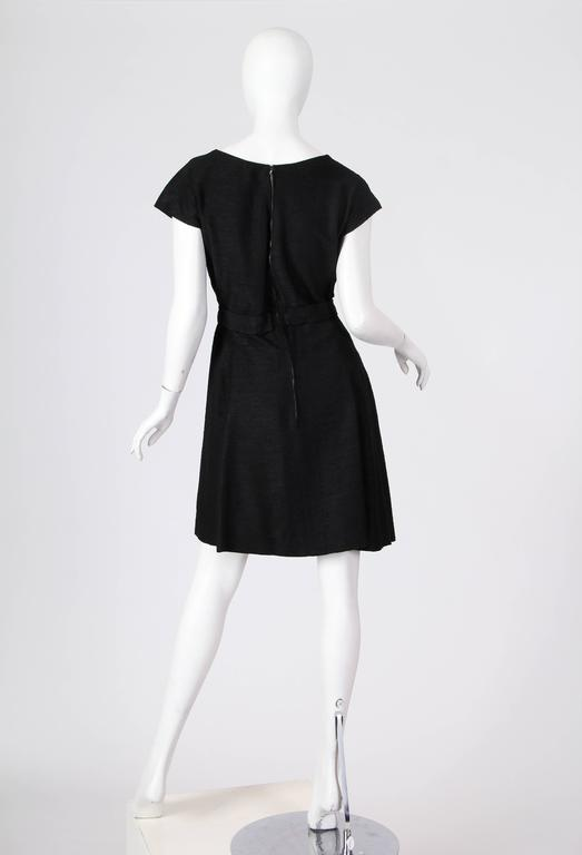 Christian Dior Black Silk Dress In Excellent Condition For Sale In New York, NY