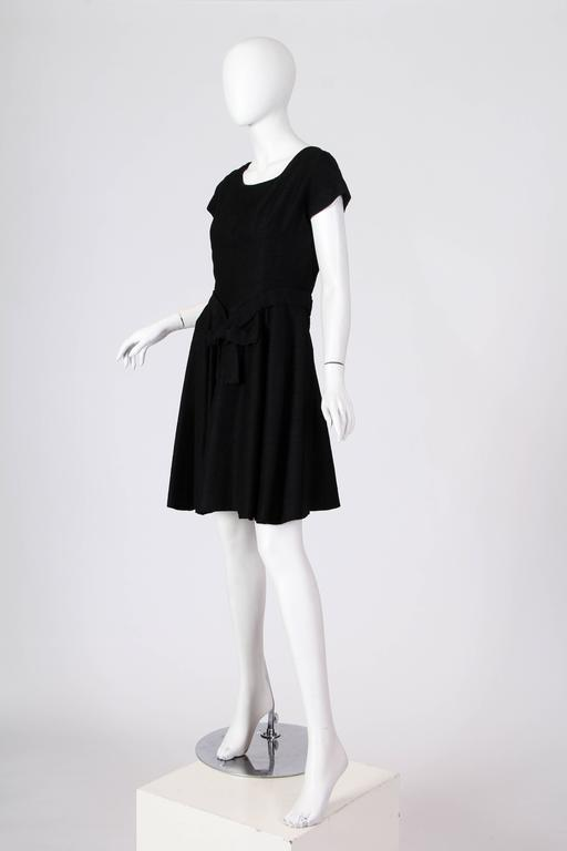 Women's Christian Dior Black Silk Dress For Sale