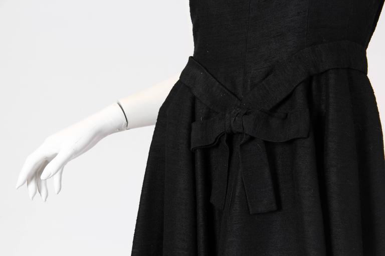 Christian Dior Black Silk Dress For Sale 2