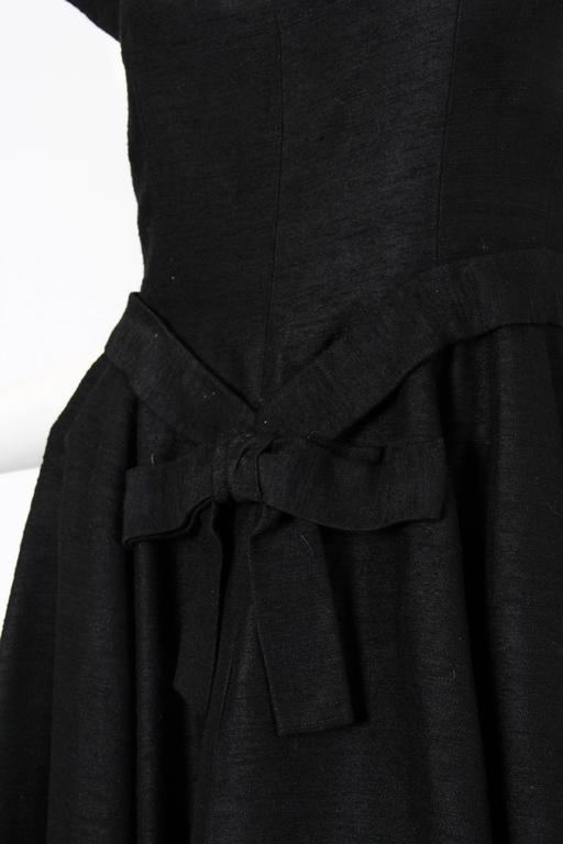 Christian Dior Black Silk Dress For Sale 4