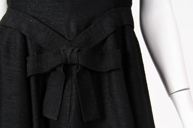 Christian Dior Black Silk Dress For Sale 5