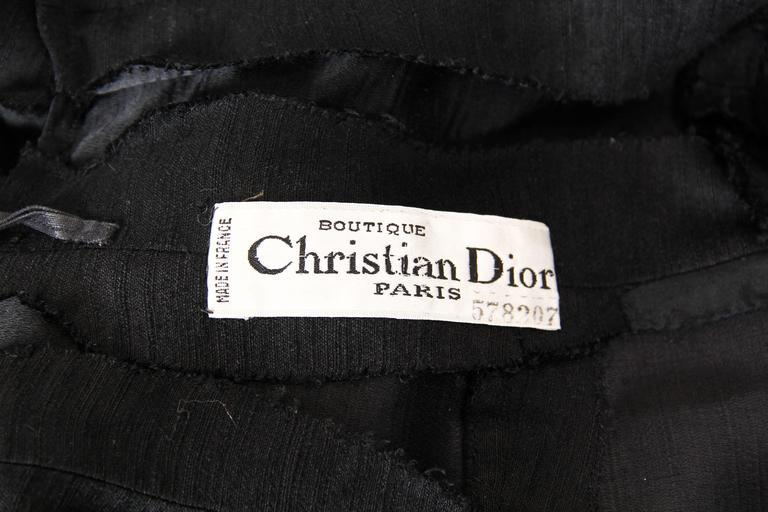 Christian Dior Black Silk Dress For Sale 6