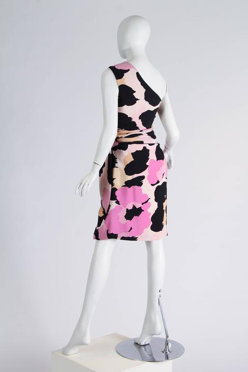 Black Sexy Jean Louis Scherrer Animal Print Dress For Sale