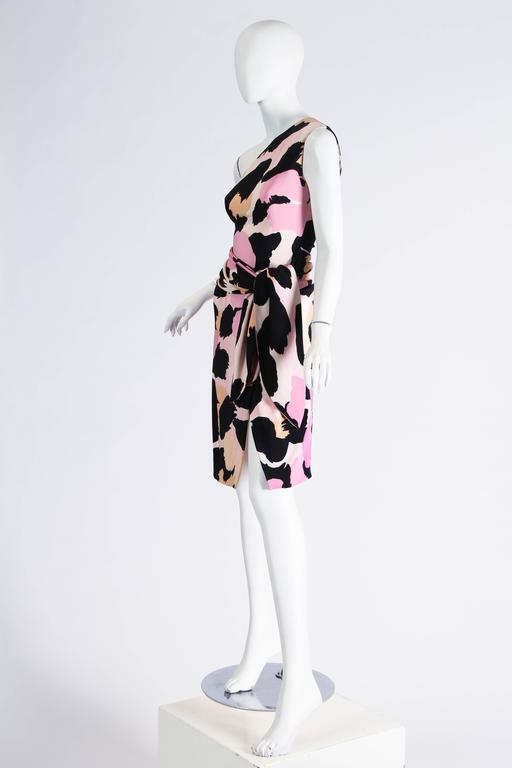 Sexy Jean Louis Scherrer Animal Print Dress In Excellent Condition For Sale In New York, NY