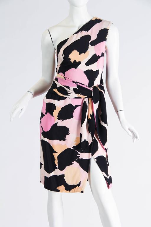 Sexy Jean Louis Scherrer Animal Print Dress For Sale 1