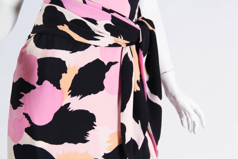 Sexy Jean Louis Scherrer Animal Print Dress 9