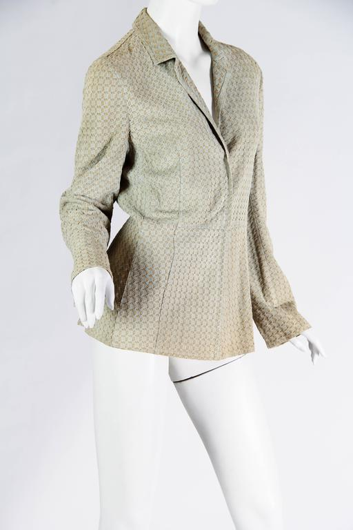 Armani Embroidered Suede Jacket In Good Condition For Sale In New York, NY
