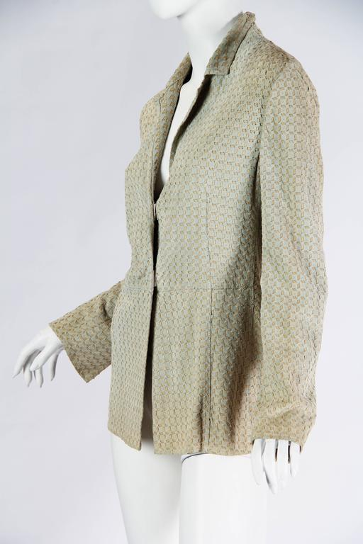Women's Armani Embroidered Suede Jacket For Sale