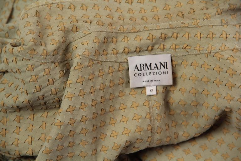 Armani Embroidered Suede Jacket For Sale 4