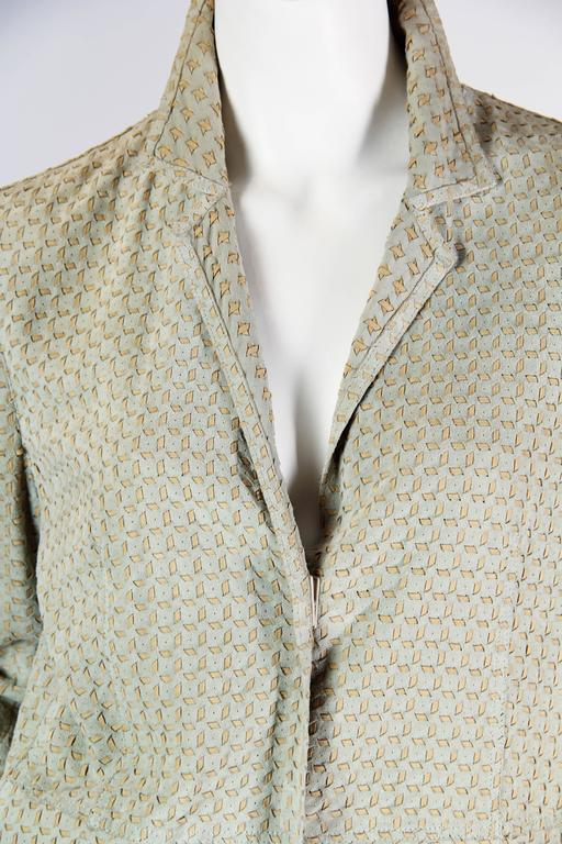 Armani Embroidered Suede Jacket For Sale 2