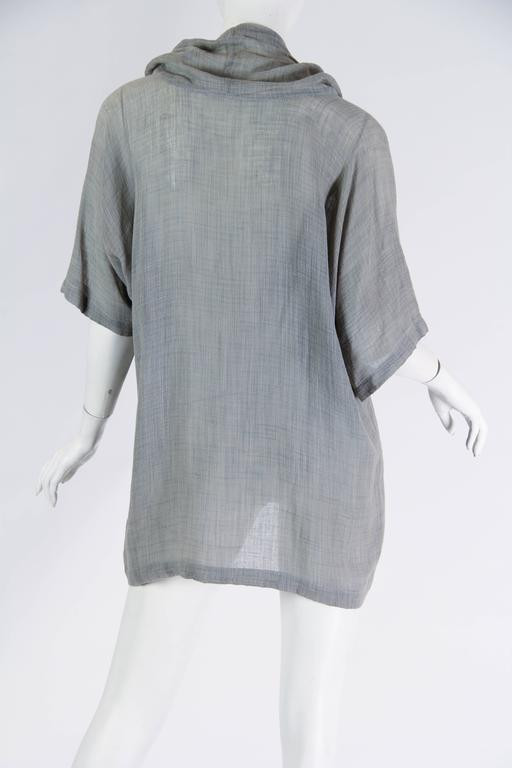 Women's or Men's Unisex Early Issey Miyake Cowl-neck Top For Sale