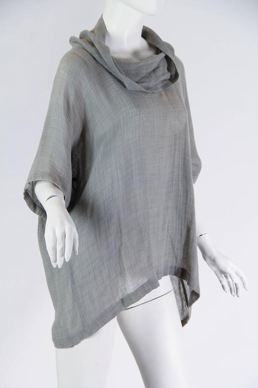 Unisex Early Issey Miyake Cowl-neck Top In Excellent Condition For Sale In New York, NY