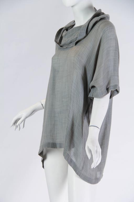 Unisex Early Issey Miyake Cowl-neck Top For Sale 1