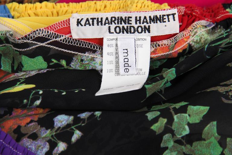 1990s Katherine Hamnett Patchwork Chiffon and Lace Palazzo Pants For Sale 4