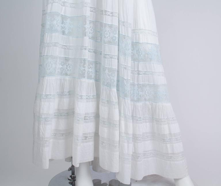 Backless Re-built Edwardian Cotton Lace Tea Dress 7