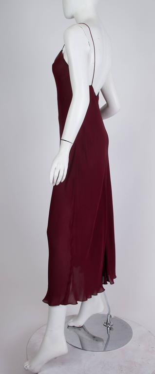 1990s Donna Karan Sheer Bias Cut Silk Chiffon Dress For Sale 2