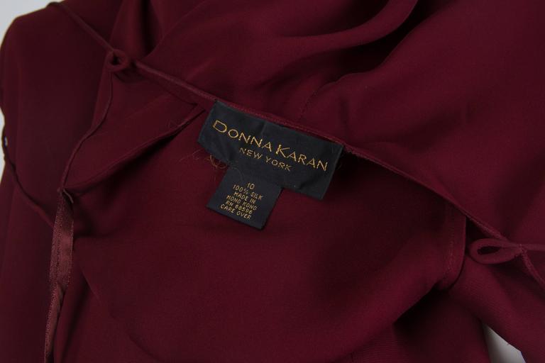 1990s Donna Karan Sheer Bias Cut Silk Chiffon Dress For Sale 4