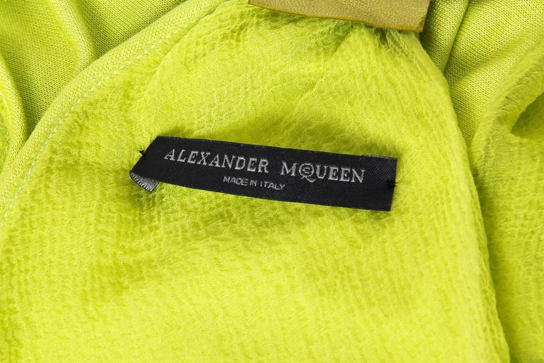 Alexander McQueen Jersey and Snakeskin Dress For Sale 4