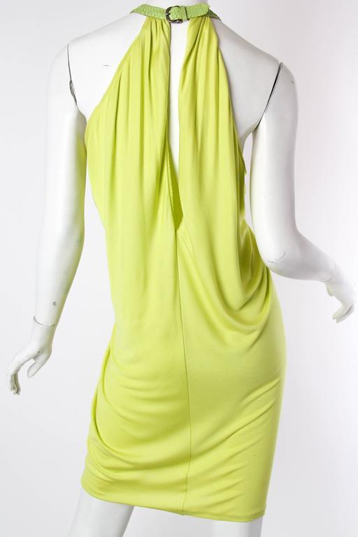 Alexander McQueen Jersey and Snakeskin Dress For Sale 1