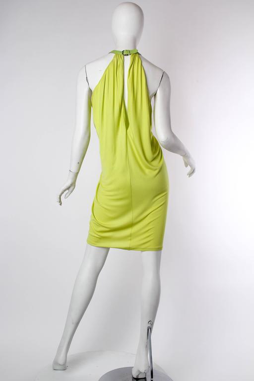Women's Alexander McQueen Jersey and Snakeskin Dress For Sale