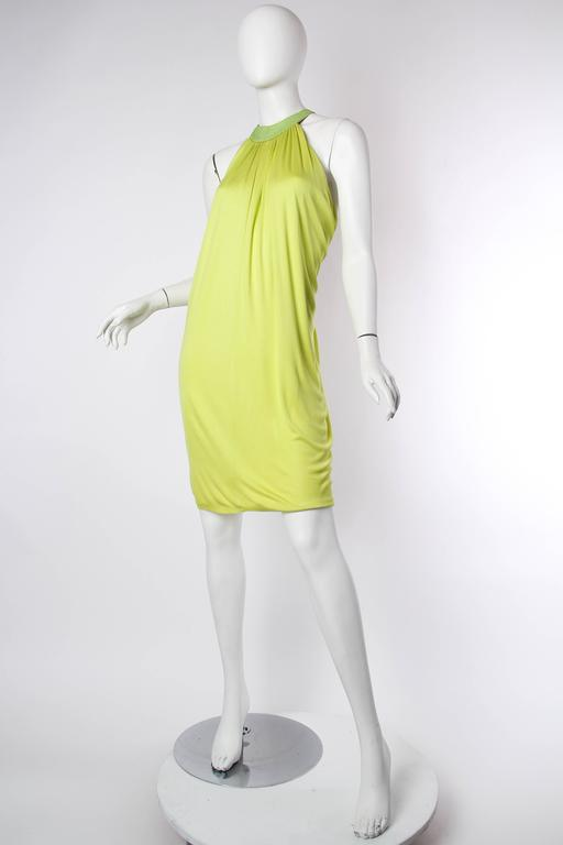 Alexander McQueen Jersey and Snakeskin Dress In Excellent Condition For Sale In New York, NY