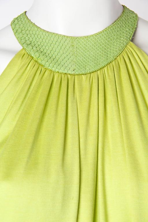 Alexander McQueen Jersey and Snakeskin Dress For Sale 2
