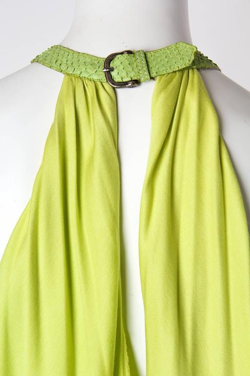 Alexander McQueen Jersey and Snakeskin Dress For Sale 3