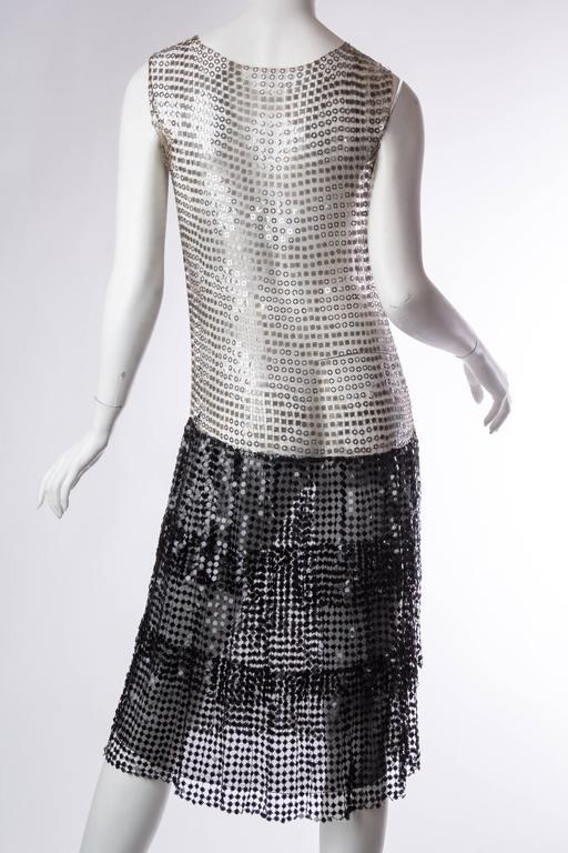 Spectacular 1920s Art Deco Sequin Net Dress For Sale 2
