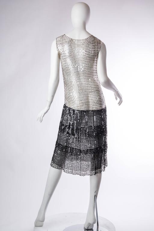 Spectacular 1920s Art Deco Sequin Net Dress For Sale 1