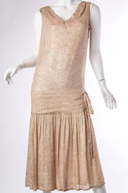 1920s Silk Lamé Dress 2