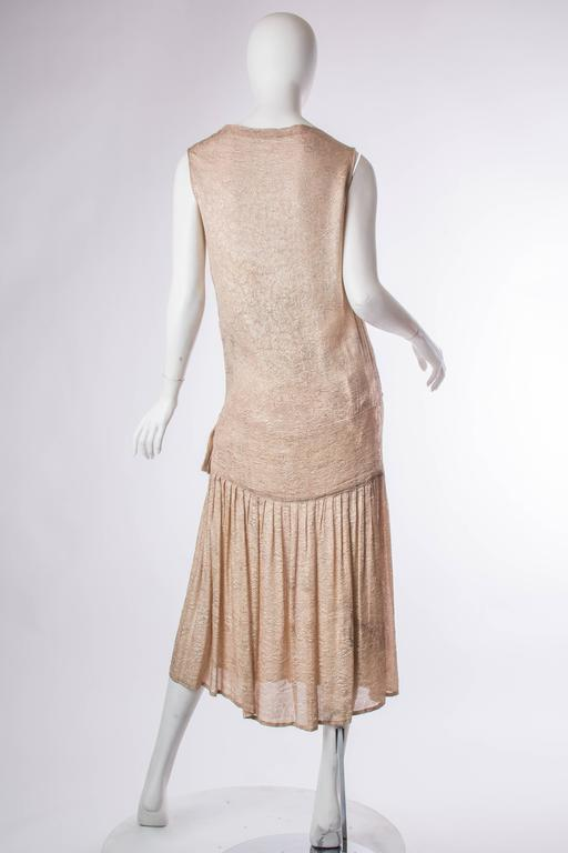 1920s Silk Lamé Dress 3