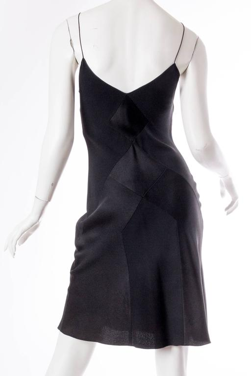 John Galliano Art Deco Seamed Bias Cut Slip Dress 4
