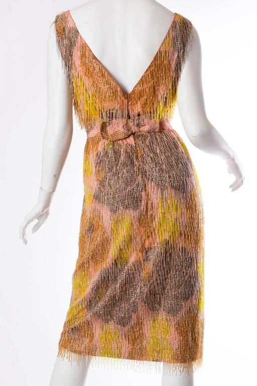 Women's Late 1950s Carven Haute Couture Beaded Dress For Sale