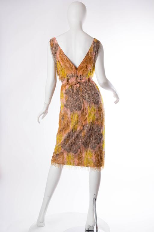 Late 1950s Carven Haute Couture Beaded Dress In Good Condition For Sale In New York, NY
