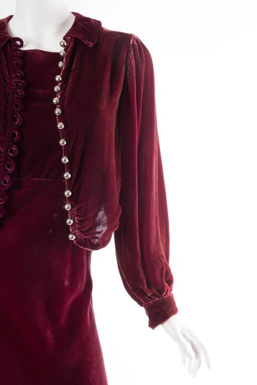Backless Silk Velvet Gown from the 1930s with Matching Jacket 5