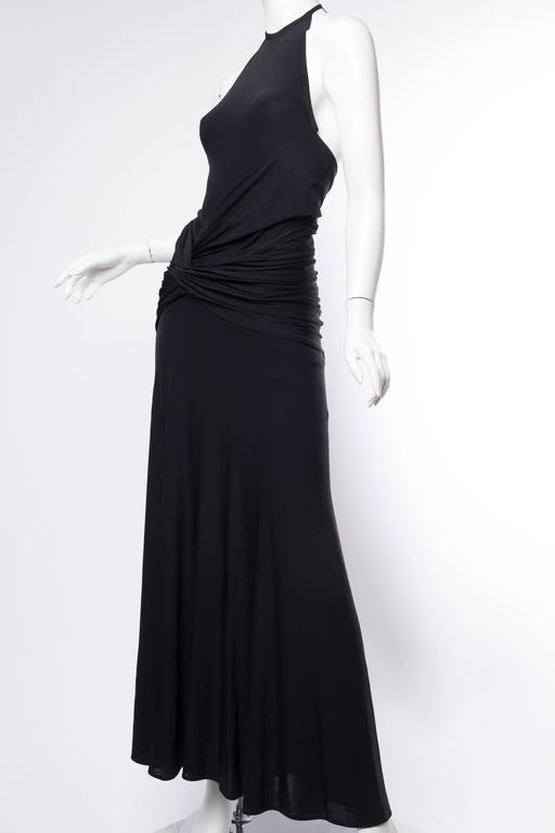 1990s Donna Karan Jersey Backless Gown For Sale 2