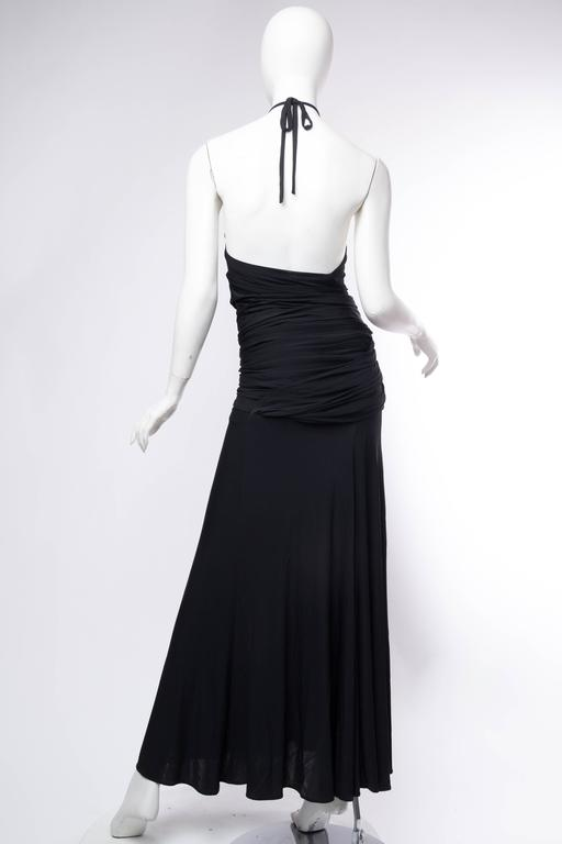 1990s Donna Karan Jersey Backless Gown For Sale 3