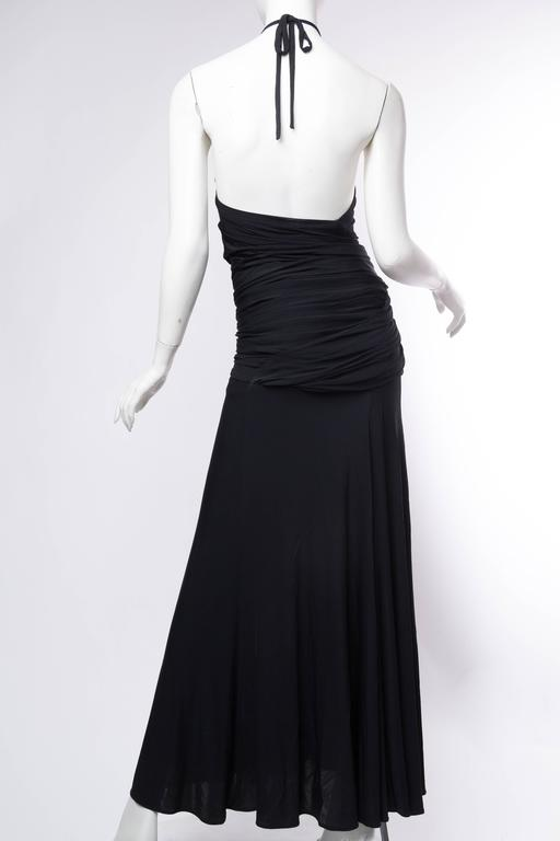 1990s Donna Karan Jersey Backless Gown For Sale 4