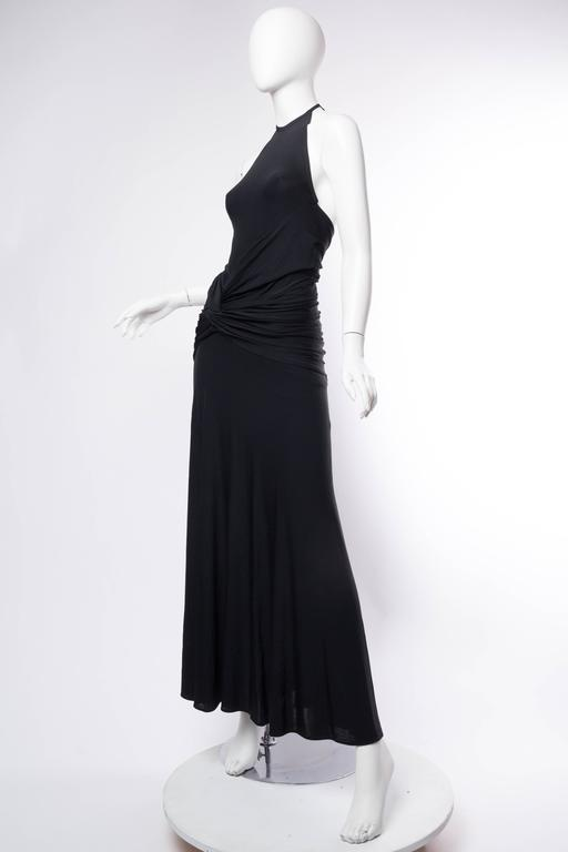 1990s Donna Karan Jersey Backless Gown For Sale 1
