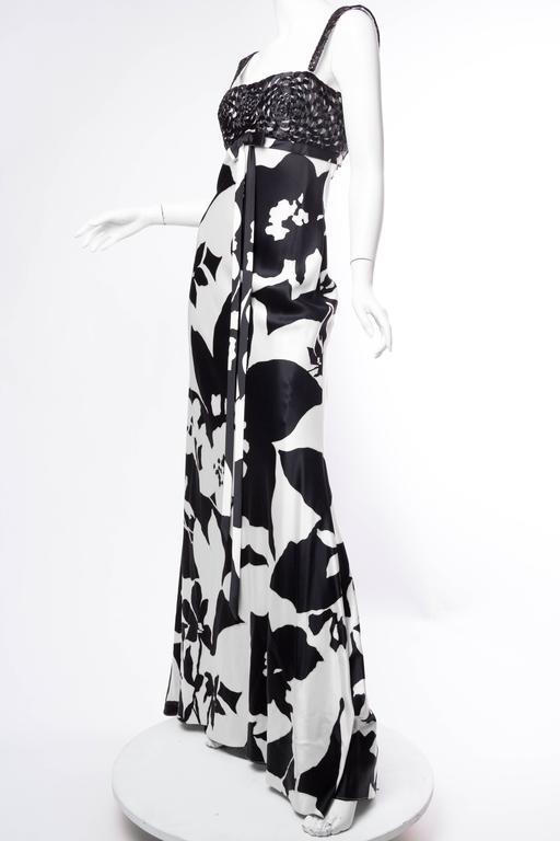 Floral Bias Cut Naeem Khan Beaded Gown  6